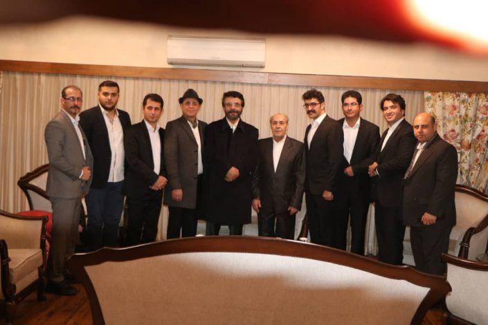 استاد بابک خواجه نوری در کنسرت استاد علیرضا افتخاری